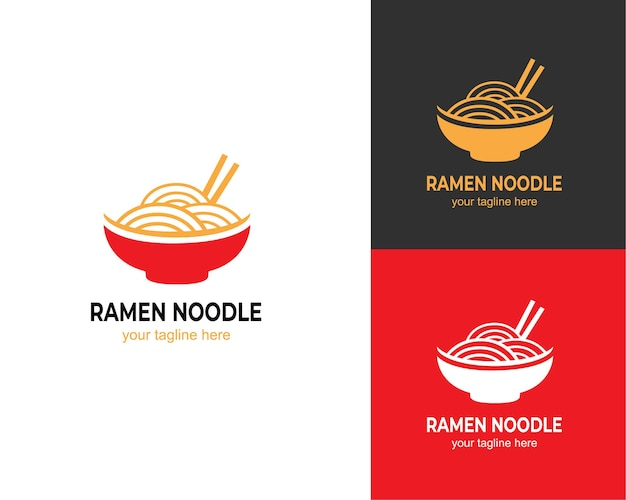 Logo asiatico della zuppa di ramen