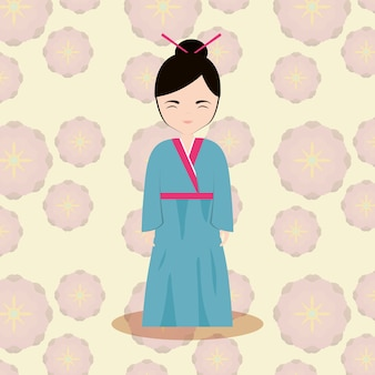 Icona di donna asiatica