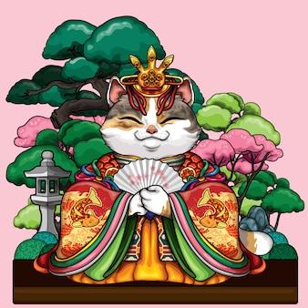 Gatto imperatrice asiatica