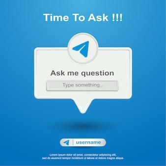 Fammi domande sui social media su telegram