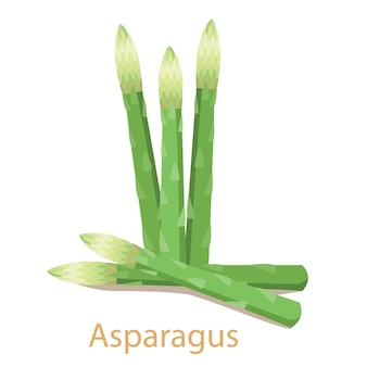 Verdura di asparagi isolata