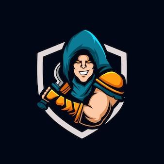 Modello di progettazione del logo esport di assassin