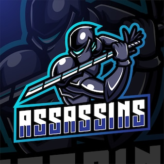 Assassin esport mascotte logo design