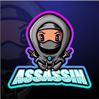 Assassin mascot esport illustrazione