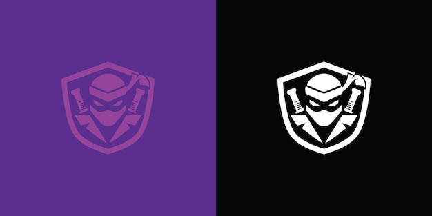 Illustrazione di gioco del logo della mascotte del guerriero assassino vettore premium