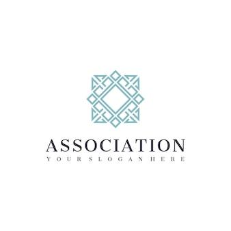 Modello di logo di associazione