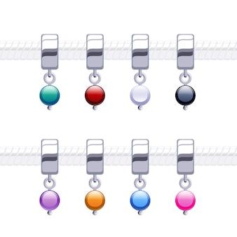 Ciondoli di perle in metallo assortiti per collana o bracciale.