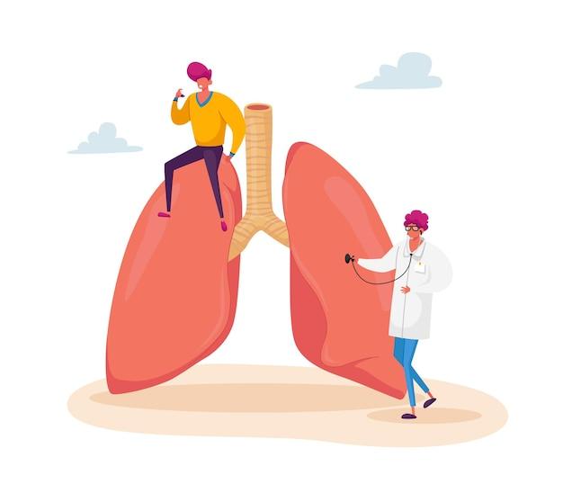 Malattia dell'asma, cure mediche, medicina respiratoria, pneumologia