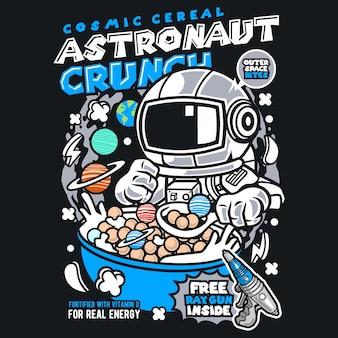 Astronauta crunch cartoon