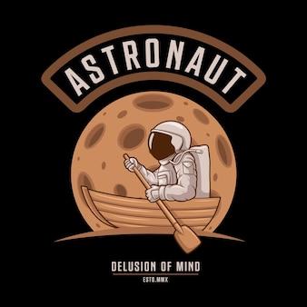 Delirio mentale dell'astronauta