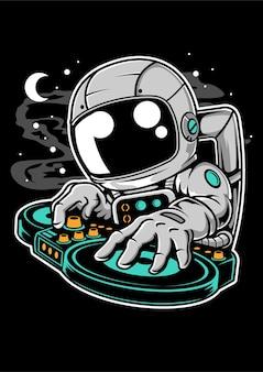 Personaggio dei cartoni animati di astronauta dj