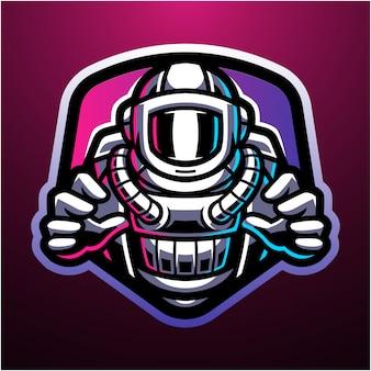 Logo della mascotte astronauta esport
