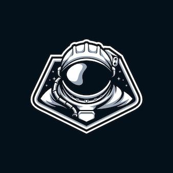 Vettore di disegno della mascotte dell'astronauta