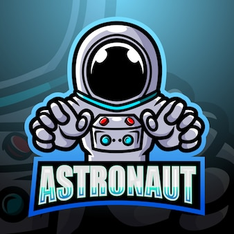 Illustrazione di esportazione della mascotte dell'astronauta