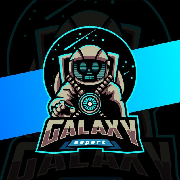 Mascotte astronauta logo design esport
