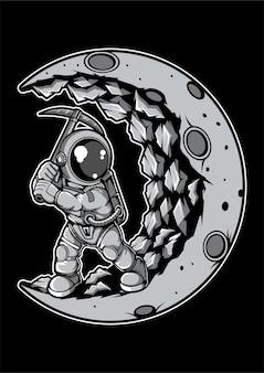 Personaggio dei cartoni animati di astronauta moon digger