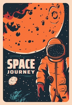 Astronauta nello spazio, esplorazione di marte