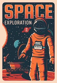 Astronauta nello spazio, esplorazione dell'universo