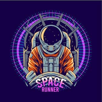 Illustrazione dell'astronave pilota dell'astronauta