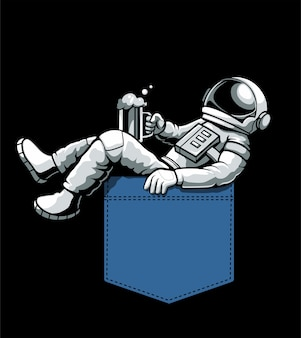 Astronauta in tasca