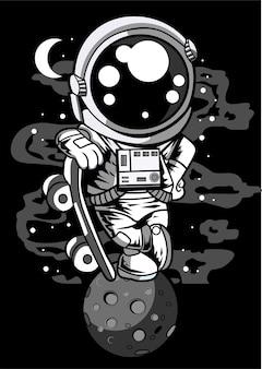 Ragazzo pattinatore astronauta