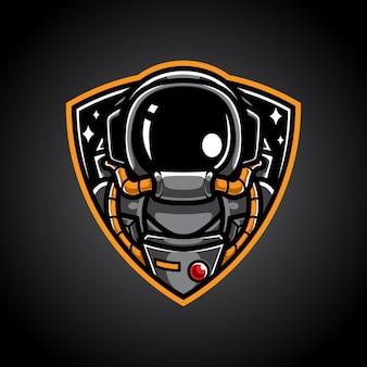 Logo della mascotte di astronauta spaziale esport