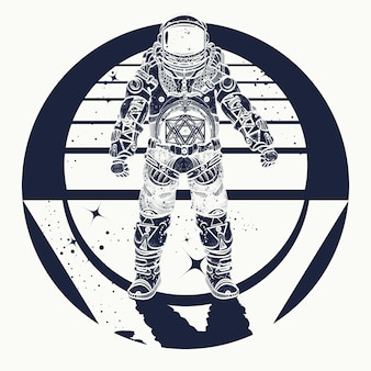 Tatuaggio di astronauta