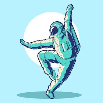Illustrazione di yoga dell'astronauta