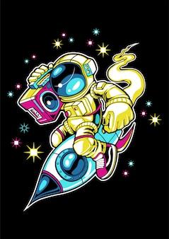 Astronauti che si godono lo spazio