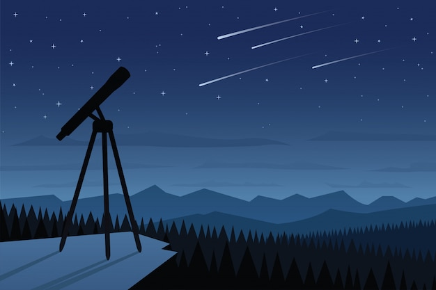 Astronomia e bella scena del cielo notturno
