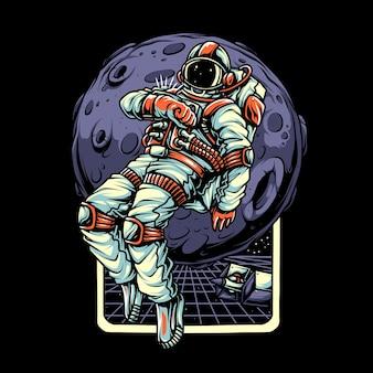 Carattere di illustrazione di astronout