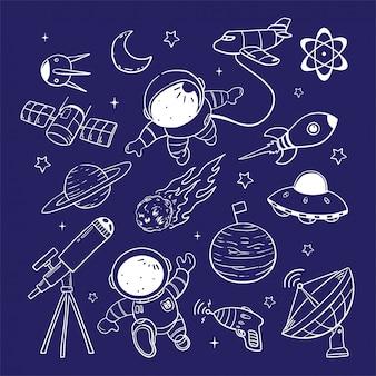 Illustrazione di astronout Vettore Premium