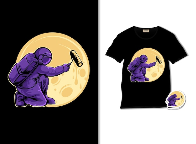 Illustrazione di astropaint con design t-shirt