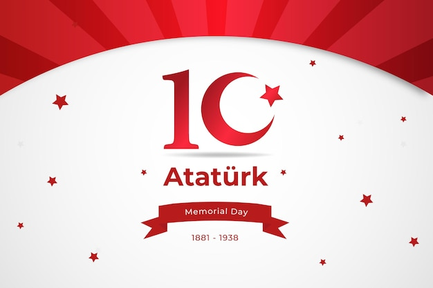 Atatürk memorial day in design piatto