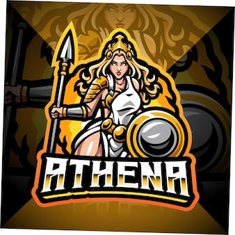 Design del logo della mascotte di athena esport