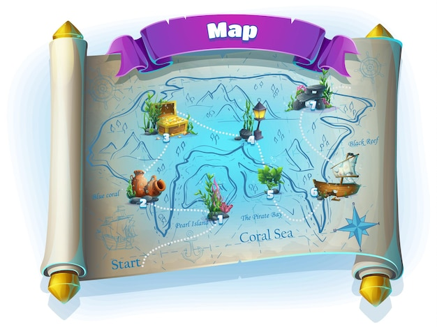 Atlantis rovine del campo da gioco illustrazione