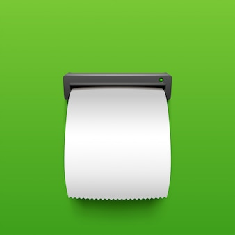 Bancomat in bianco su verde