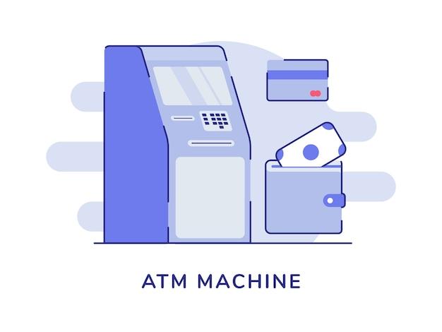 Fondo isolato bianco di prelievo di denaro del concetto di macchina atm