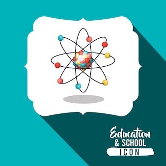 Atomo all'interno dell'icona cornice