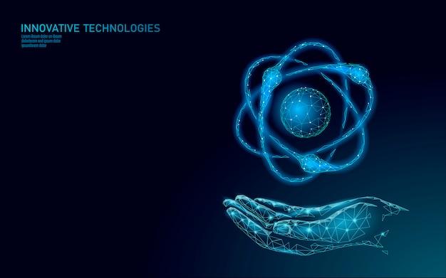 La particella dell'atomo firma dentro la mappa di mondo delle mani. il pericolo globale di armi militari nucleari. sicurezza del paese in difesa della potenza atomica. illustrazione di concetto di trattato di violenza internazionale del braccio di nuke