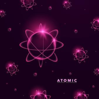 Progettazione sfondo atomico