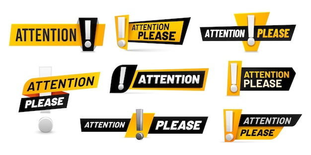 Attenzione per favore badge.