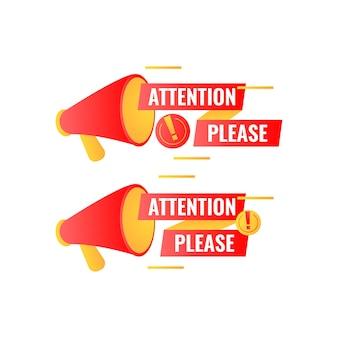 Attenzione si prega di etichettare con megafono