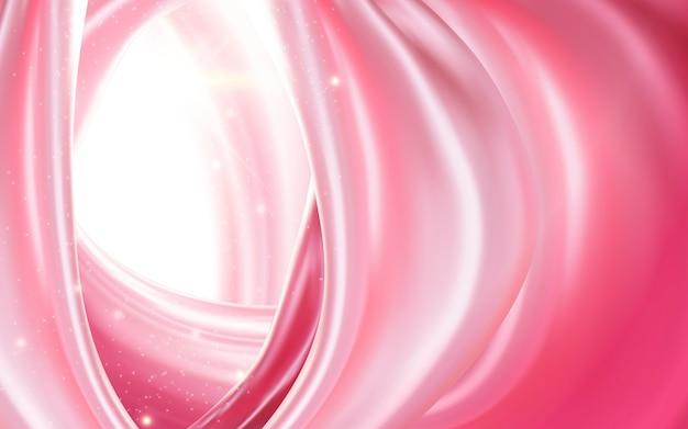 Attraente tessuto rosa setoso illustrazione