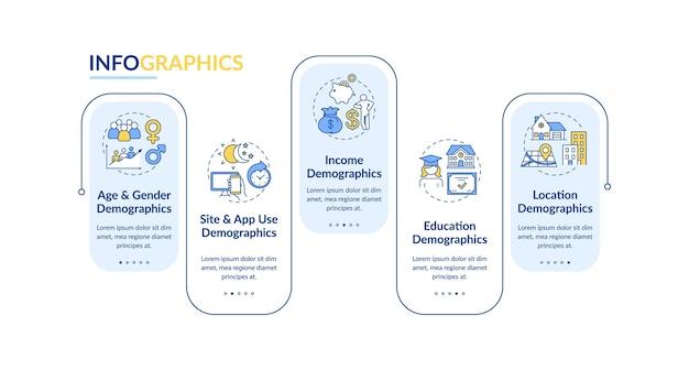 Modello di infografica per informazioni sul pubblico