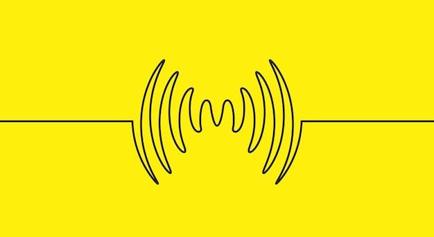 Forma d'onda della musica dell'onda sonora audio. linea di segnale di progettazione di record audio a impulsi.