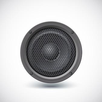 Altoparlante audio isolato su sfondo bianco. illustrazione vettoriale, eps10