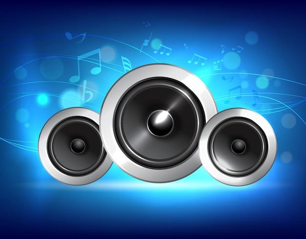 Concetto di musica audio altoparlanti