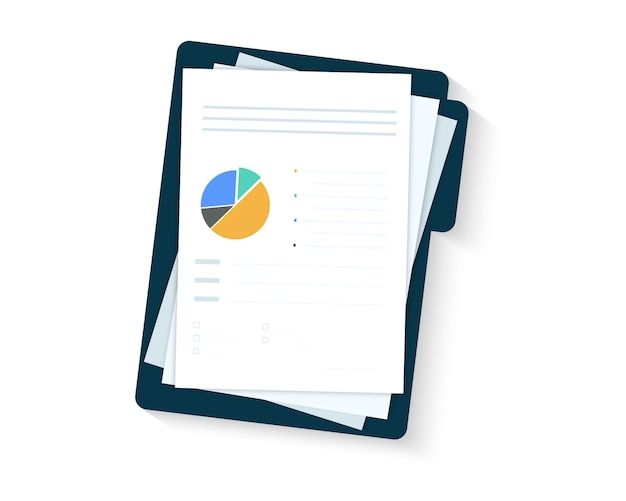 Concetti di revisione. rapporto sulla crescita delle vendite, analisi, dati analitici del grafico delle vendite potenziati. documento con cartella. analisi dei big data, analisi seo, rapporto di ricerca finanziaria, calcolo delle statistiche di mercato
