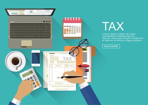 Esame del revisore contabile della relazione finanziaria. processo fiscale.